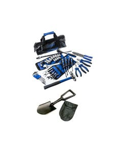 Adventure Kings Essential Bush Mechanic Toolkit + 4WD Folding Shovel