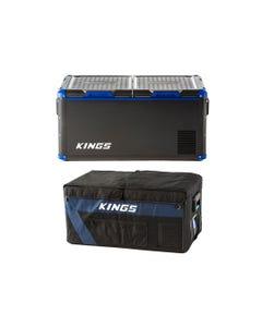 Kings 90L Camping Fridge Freezer + 90L Fridge Cover
