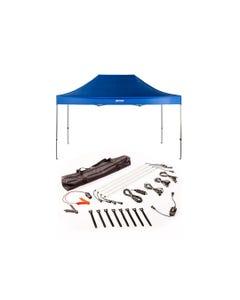 4.5m x 3m Gazebo + Illuminator 4 Bar Camp Light Kit