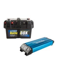 Kings 3000W Pure Sine Wave Inverter + Battery Box