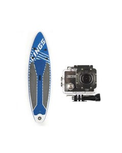 Adventure Kings Inflatable Stand-Up Paddle Board + Action Camera