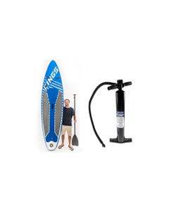 Adventure Kings Inflatable Stand-Up Paddle Board + Single-Action Paddleboard Pump