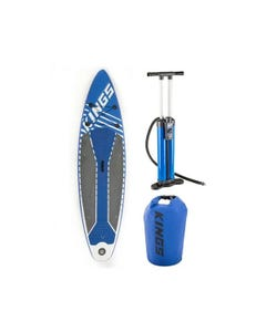 Adventure Kings Inflatable Stand-Up Paddle Board + Triple-Action Inflatable Paddleboard Pump + 15L Dry Bag