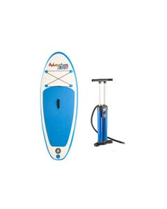 Kids Inflatable Stand-Up Paddle Board + Triple-Action Inflatable Paddleboard Pump