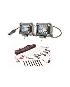 "Adventure Kings 4"" LED Light Bar + Illuminator 4 Bar Camp Light Kit"