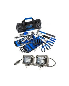 "Adventure Kings 4"" LED Light Bar + Essential Bush Mechanic Toolkit"
