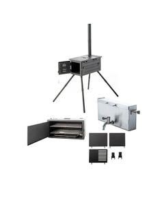 Kings Premium Camp Oven Stove Ultimate Accessories Pack | Inc. Firebox, Smoker, BBQ Hotplates & Water Boiler
