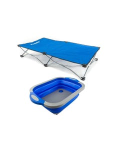 Kings Folding Pet Bed + Adventure Kings Collapsible Sink