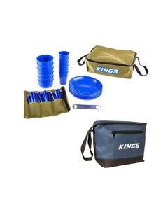 Adventure Kings 37 Piece Picnic Set + Adventure Kings Cooler Bag