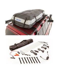 Adventure Kings Premium Roof Top Bag + Illuminator 4 Bar Camp Light Kit