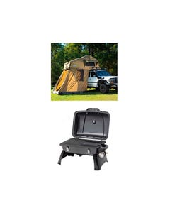 Adventure Kings Roof Top Tent + 4-man Annex + Gasmate Voyager Portable Gas BBQ