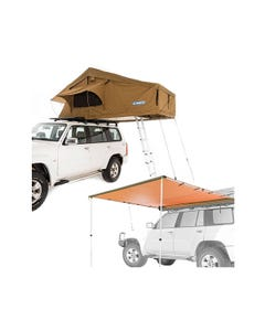 Adventure Kings Roof Top Tent + Adventure Kings Awning 2.5x2.5m