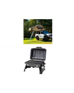 Adventure Kings Roof Top Tent + Gasmate Voyager Portable Gas BBQ