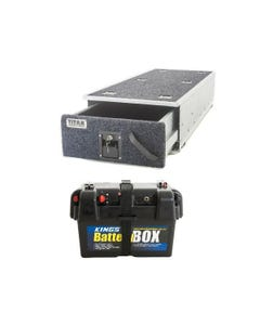 Titan Single Ute Drawer 1300mm + Adventure Kings Battery Box