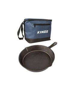 Cast Iron Skillet Pan + Cooler Bag