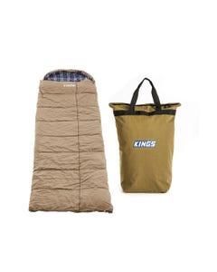 Premium Sleeping bag -5°C to 5°C Degrees Celsius Left Zipper + Doona/Pillow Canvas Bag