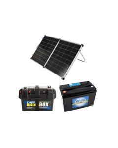 Kings Premium 160w Solar Panel with MPPT Regulator + Battery Box + AGM Deep Cycle Battery 115AH