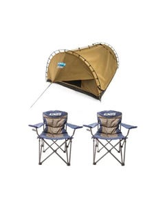 2x Adventure Kings Throne Camping Chair + Adventure Kings Double Swag Big Daddy Deluxe