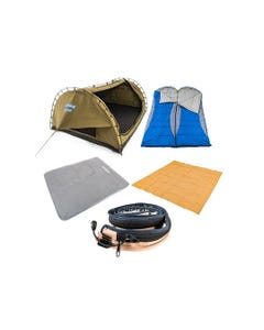 Kings Big Daddy Deluxe Double Swag Ultimate Setup | Camping Swag Tent Pack