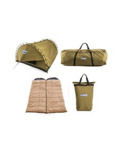Kings Big Daddy Deluxe Double Swag Tent + 2x Premium Sleeping Bag s+ Camping Swag Canvas Bag + Doona/Pillow Canvas Bag