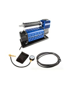 Thumper 12v Air Compressor 160L/M 150PSI + Kwiky Tyre Deflator + Thumper Air Hose Extension 4m