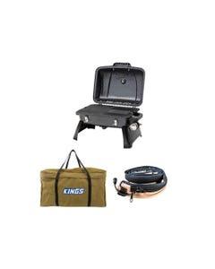 Gasmate Voyager Portable BBQ + Adventure Kings BBQ Canvas Bag + Adventure Kings LED Strip Light