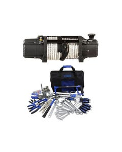 Domin8r Xtreme 12,000lb Winch + Adventure Kings Tool Kit - Ultimate Bush Mechanic