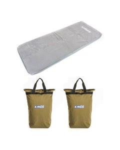 Adventure Kings Self-Inflating Foam Mattress - Single + 2x Doona/Pillow Canvas Bag
