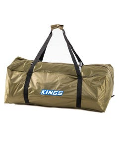 Kings Deluxe Single Swag Polyester Bag   350GSM PVC-Coated 210D Polyester   Heavy-Duty Zippers, Buckles & Handles