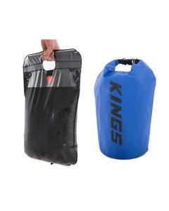 Adventure Kings Solar Shower + 15L Dry Bag