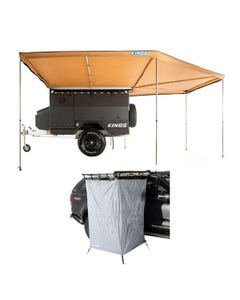 King Wing Deluxe 270° Wrap-Around Awning + Instant Ensuite