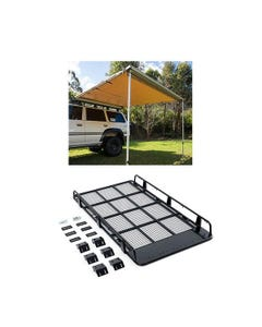 Steel Tradesman Roof Racks + Adventure Kings Awning 2.5x2.5m