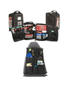 100+ Piece Survival 'Vehicle' First-Aid Kit + Car Seat Organiser
