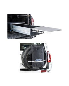 Adventure Kings Drawer Table suitable for 900mm & 1300mm Titan Drawers + Premium 48L Dirty Gear Bag