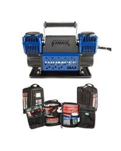 Thumper Max Dual Air Compressor + 100+ Piece Survival 'Vehicle' First-Aid Kit