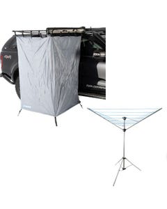 Awning Shower Tent  + Kings Camping Clothesline