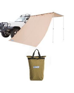 Adventure Kings Awning Side Wall + Doona/Pillow Canvas Bag