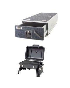 Titan Single Ute Drawer 1300mm + Voyager Portable Gas BBQ