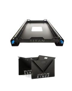 Titan Small Fridge Slide + Portable Steel Fire Pit