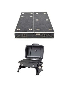 1300mm Titan Drawer System Suitable for Utes + Voyager Portable Gas BBQ