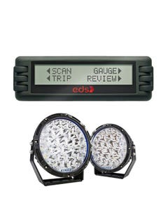 """Kings Lethal 9"""" Premium LED Driving Lights (Pair)  + Engine Data Scan Computer"""