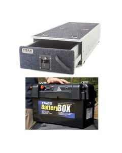 Titan Single Ute Drawer 1300mm + Maxi Battery Box