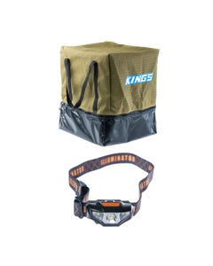 Adventure Kings Camping Toilet Bag + Kings LED Head Torch