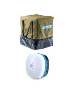 Kings Premium Canvas Camping Toilet Bag + Mini Lantern