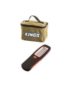 Adventure Kings Toiletry Canvas Bag + Kings LED Work Light