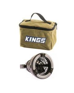 Adventure Kings Toiletry Canvas Bag + 2in1 LED Light & Fan