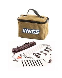 Adventure Kings Toiletry Canvas Bag + Illuminator 4 Bar Camp Light Kit