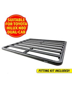 Adventure Kings Aluminium Platform Roof Rack Suitable for Toyota HiLux N80 Dual-Cab 2015+