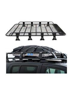 Steel Tradie Roof Racks + Half-Length Premium Waterproof Rooftop Bag