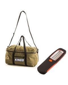 Canvas Travel Bag + Kings LED Work Light